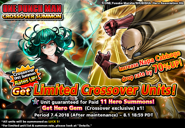 One Punch Man Anime Heroes Crossover in Grand Summoners for Limited Time